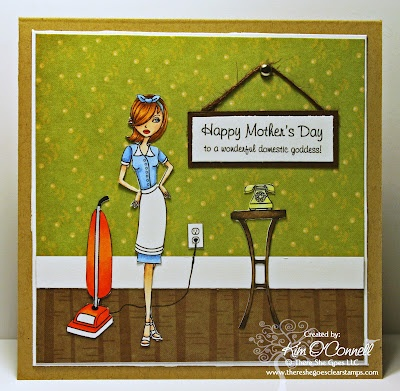 """There She Goes Clear Stamps """"Domestic Goddess"""" stamp setCards Ideas, Rubber Stampin, Altered Paper, Stamps Sets, Stamps Domestic, Cards Boxes, Clear Stamps, Crafts, Awesome Cards"""
