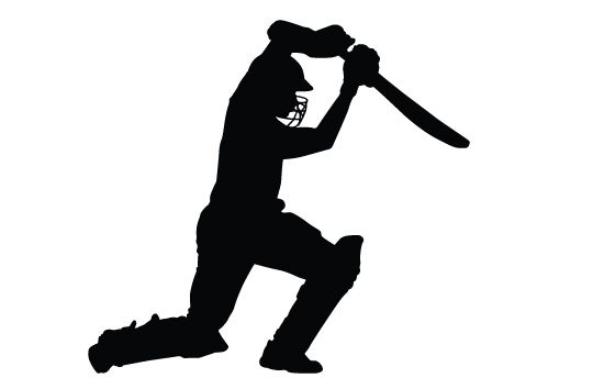 Cricket Bating Silhouette Vector Free Download