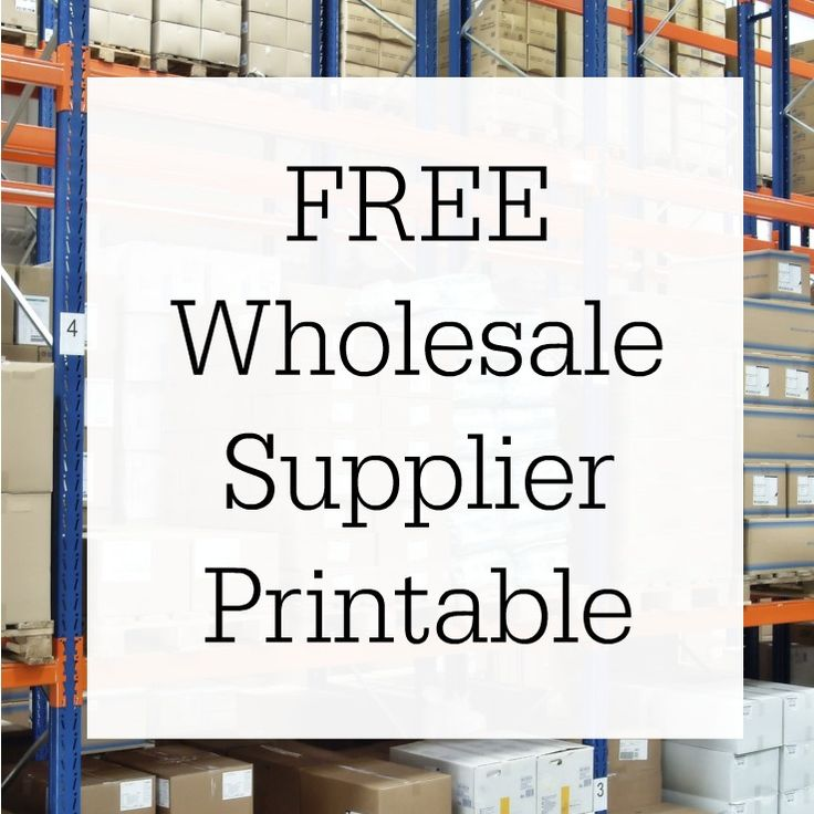 Free, printable list for wholesale suppliers for Silhouette Cameo or Cricut users. Includes tee shirts, raglans, tumblers, mugs, infant bodysuits, and more.