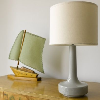 LITTLE DANE LAMP Based on a beautiful pair of vintage lamps we bought in Copenhagen. Handmade for us in a very special pottery company in Stoke-on-Trent. Looks wicked in both modern and more traditional interiors. Lampshade and delivery included.
