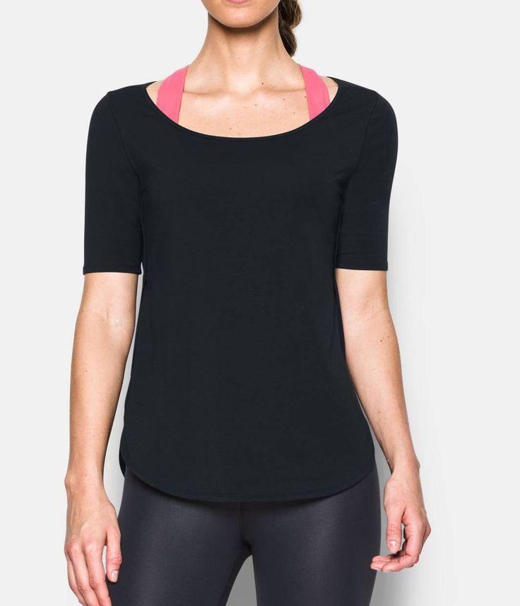 Under Armout, Women's UA Essential Demi T-Shirt, Black, Medium
