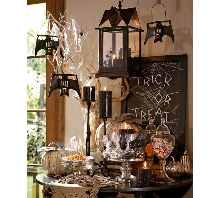 120 best All Hallows images on Pinterest Halloween decorating - halloween table setting ideas