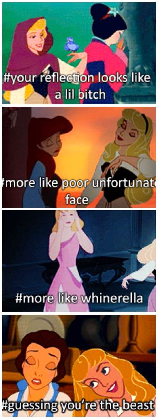 Bahahaha  Sleeping Beauty Is a Total Mean Girl in These Hilarious GIFs