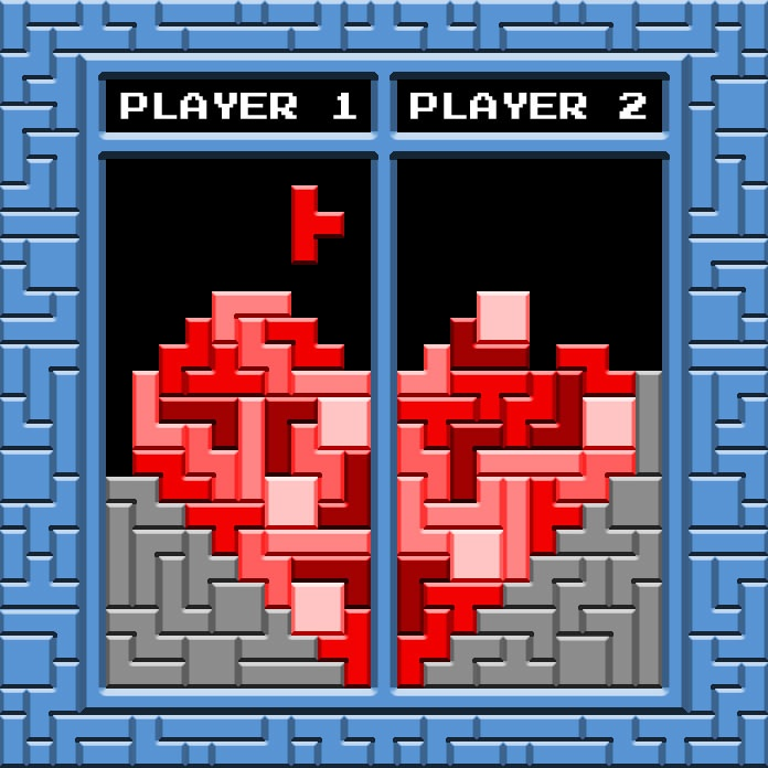 2-Player version of the popular Tetris valentine. After all, relationships are co-op play. Available as free cards (2 versions) from my site.  http://www.adamcgillett.com/files/valentine_versionA.pdf http://www.adamcgillett.com/files/valentine_versionB.pdf
