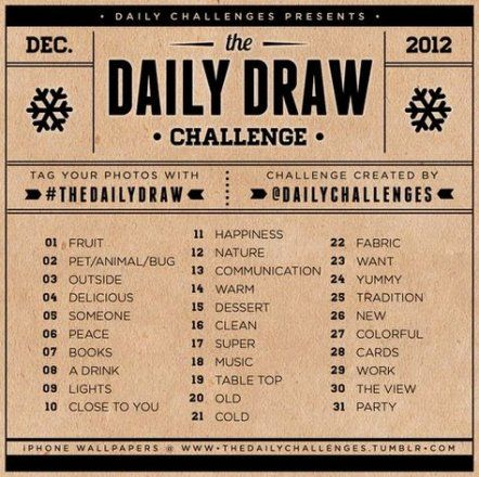 65+ New Ideas Drawing Challenge 30 Day Daily