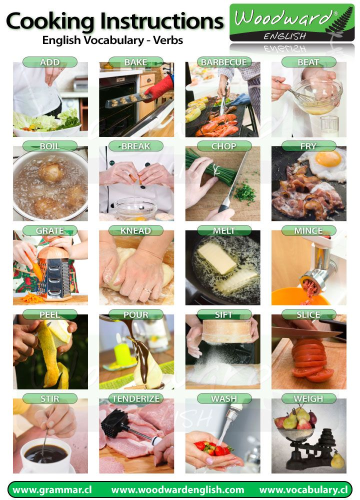 Cooking Vocabulary in English (The verbs you need to know)