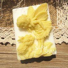 M0441 наслаждаясь цветы ангел мыло формы помадка формы торта мыло шоколада пресс…