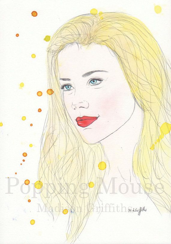 Amber  Original Watercolour Painting by Madison by PoppingMouse