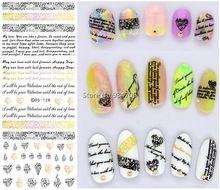 DS128 2015 Novas Unhas De Transferência De Água Art Sticker Inglês Carta Pouco Elemento Envoltório Etiqueta Do Prego de transferência da folha de Dicas de unhas de Manicura alishoppbrasil