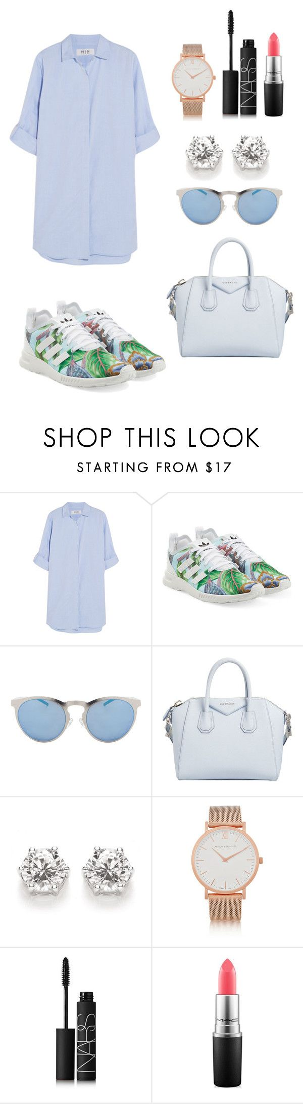 """Sin título #95"" by hannymontanita on Polyvore featuring moda, MiH Jeans, adidas Originals, Illesteva, Givenchy, Larsson & Jennings, NARS Cosmetics y MAC Cosmetics"