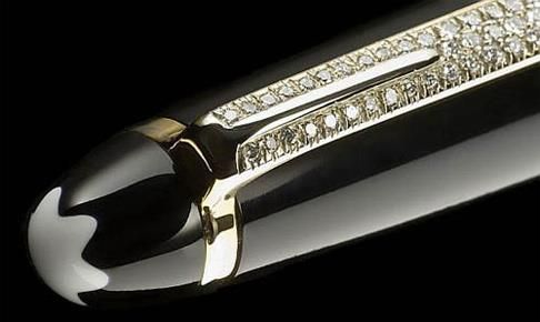 Alexander Amosu Diamond Mont Blanc Pen,  77 diamonds, 0.45 carats, price $1,976