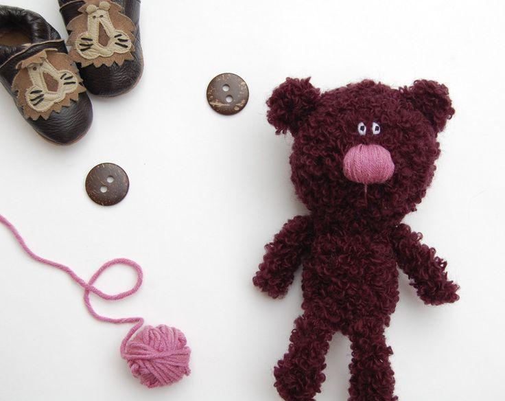 Crochet Teddy Bear toy soft stuffed animal Kids from RomeoToys by DaWanda.com