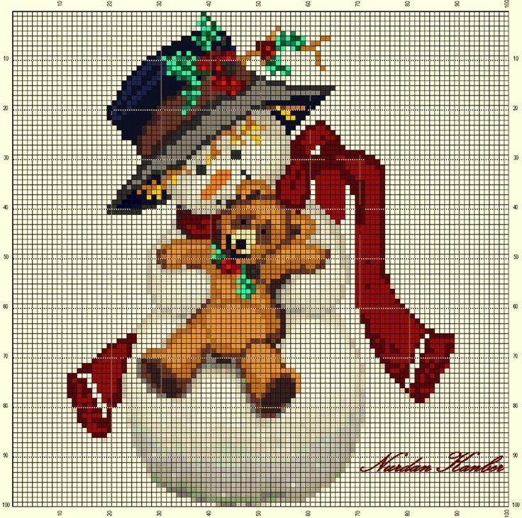 """""""Snowman with a Teddy Bear"""" An adaptation work"""