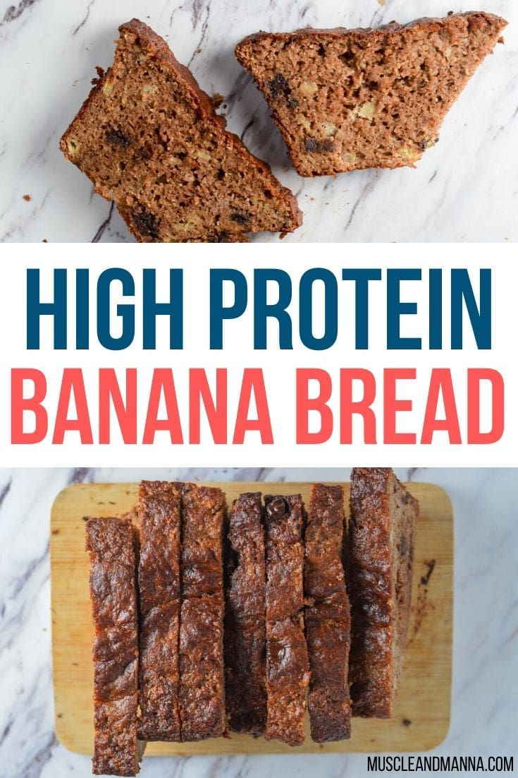 High Protein Banana Bread Healthy Easy Recipe Protein Banana Bread Protein Baking Protein Desserts