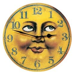 Moon Clock - I had this image on a tiny tee shirt in the early 70s.  No hands, though. Sigh.
