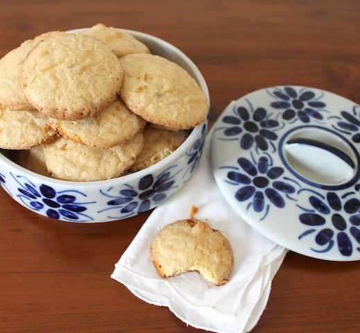 Beautifully crunchy on the outside with sweet and tart chewy insides, these passionfruit cookies taste of Brazilian sunshine and samba.