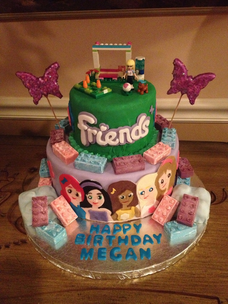 Birthday Cake Pictures For Friend : Lego Friends birthday cake Treats Pinterest Lego ...