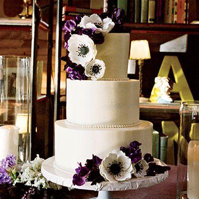 Sugared Anemones Wedding Cake - Southern Living