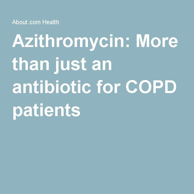 Daily azithromycin for COPD patients may help reduce exacerbations