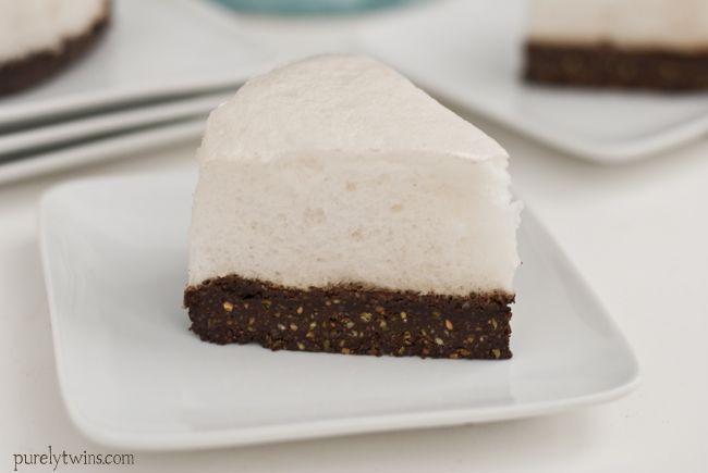 chocolate pistachio marshmallow low sugar cake