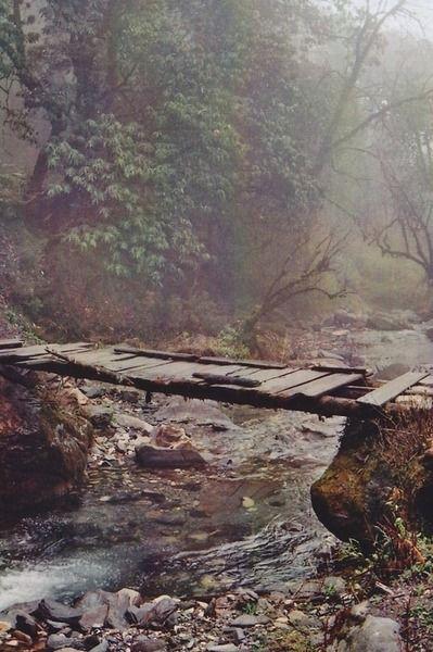 Foot bridge, Nepal. Dreaming of visiting #Nepal one day