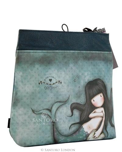 Large Fold Over Cosmetic Bag, Awashed - Santoro's Gorjuss - Santoro London