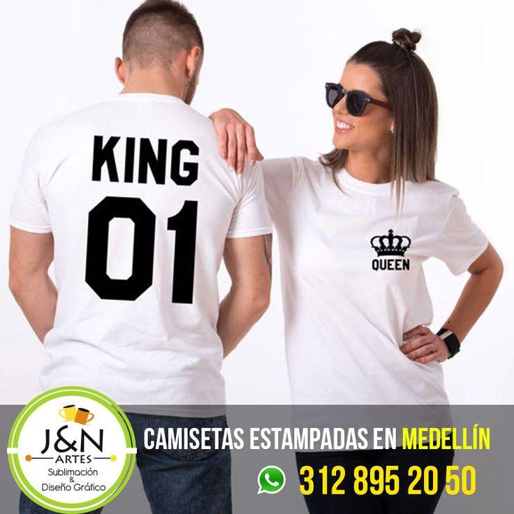 Camisetas Estampadas en medellin Novios King Queen