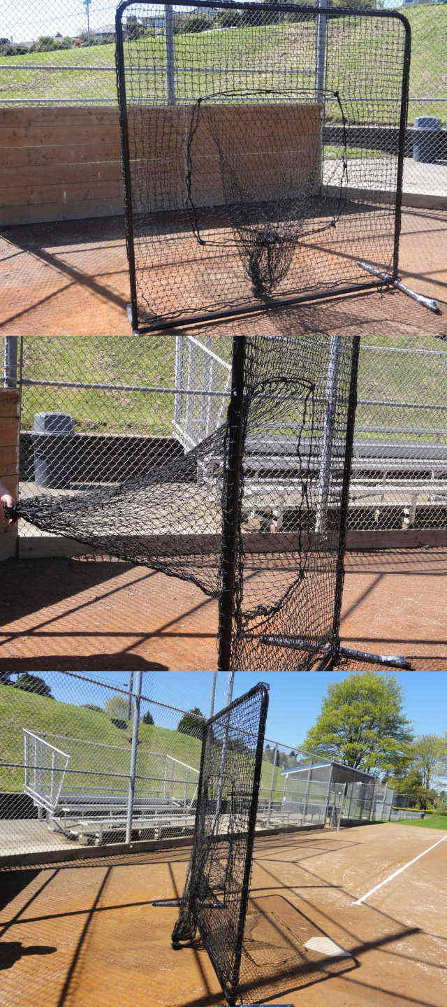 Batting Cages and Netting 50809: 7 X7 Baseball Softball Catch Net Protective Screen Kit W Net And Frame Sock Net -> BUY IT NOW ONLY: $150 on eBay!