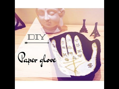 DIY- paper glove - YouTube