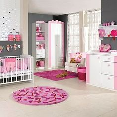 I like the pink and gray colors. little girls bedrooms | Little Girls Bedroom: little girls room decor | best stuff