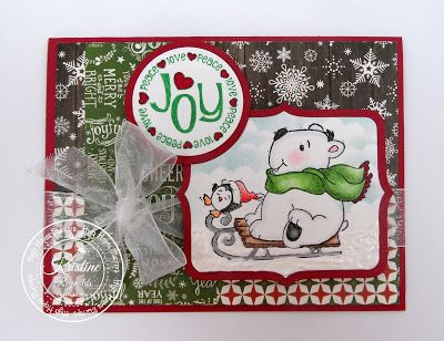High Hopes Stamps Polar Sleigh by DT Kristine
