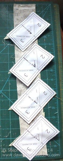 paper pieced flying geese tutorial