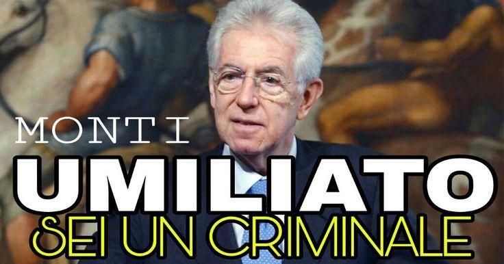 """BARNARD POLVERIZZA MARIO MONTI IN DIRETTA: """"Quest'uomo è un bugiardo e un criminale, messo al governo da un golpe finanziario. L'Euro è un..."""