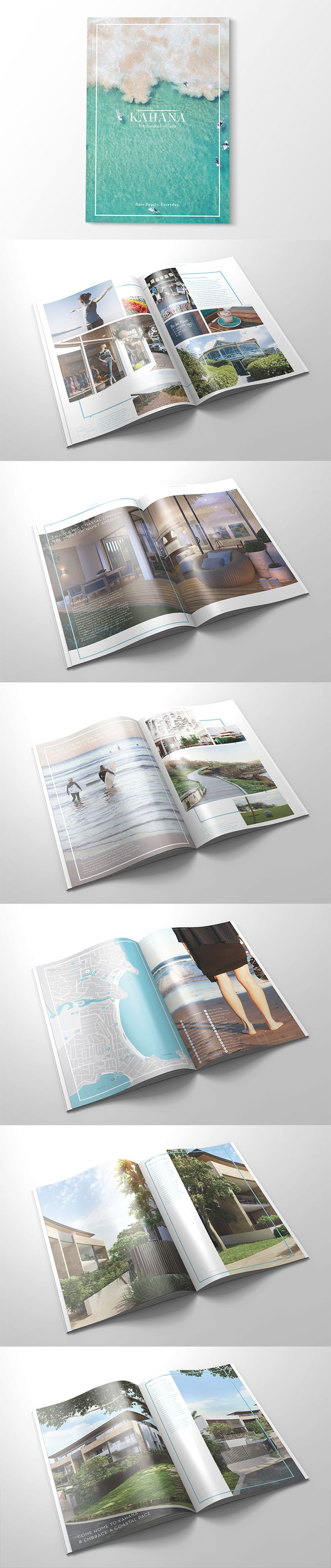 The team at Made have recently created brand new creative collateral for a contemporary development named Kahana. The colour palette and branding were largely influenced by the tranquil environment and were created to display a luxurious, yet exotic feel, enhancing the gorgeous beach location.  madeagency sydney graphic graphicdesign design brochure property development architecture inspiration realestate estate