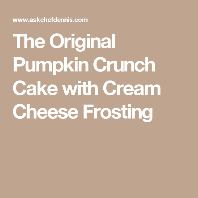 Pumpkin Crunch Cake With Cream Cheese Cool Whip Topping
