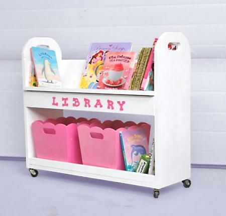 Library Book Cart diy. great idea to replace the wobbly shelves the