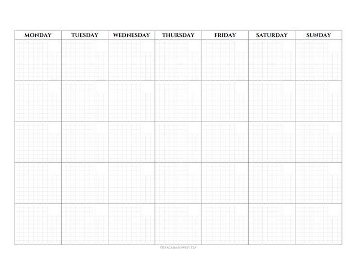 Best 25+ Blank monthly calendar 2017 ideas on Pinterest Blank - birthday list template free