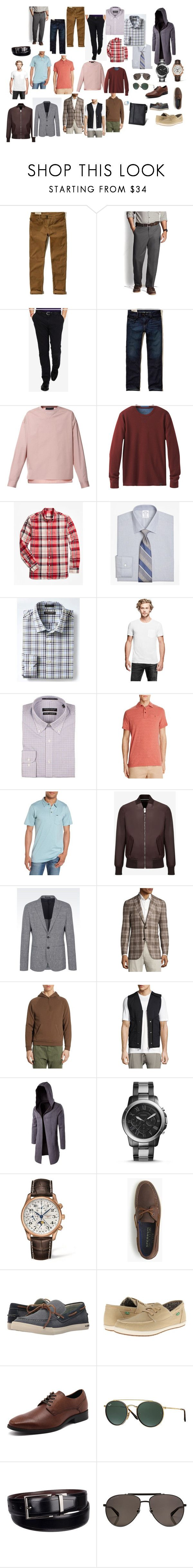 """""""Men"""" by el-kiara on Polyvore featuring Hollister Co., Lands' End, Polo Ralph Lauren, Diesel, prAna, Brooks Brothers, Banana Republic, GUESS, Forsyth of Canada и Just A Cheap Shirt"""