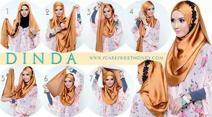 Malaysian Hijab (Tudung) tutorial by scarf sweet honey
