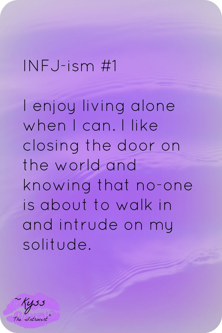 INFJ-ism #1 by ~Kyss the Introvert