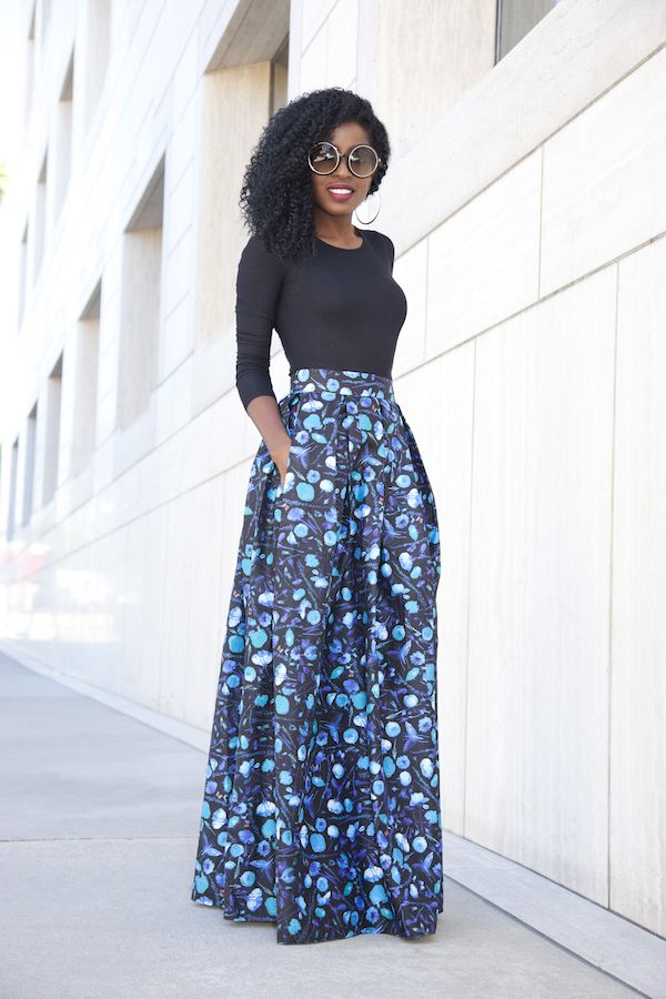 25  best ideas about Floral maxi skirts on Pinterest | Long skirt ...
