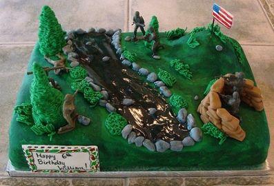 Boys Birthday Cakes creative | Share Army Birthday Cake Ideas Via Photos Of Your Homemade Creations!