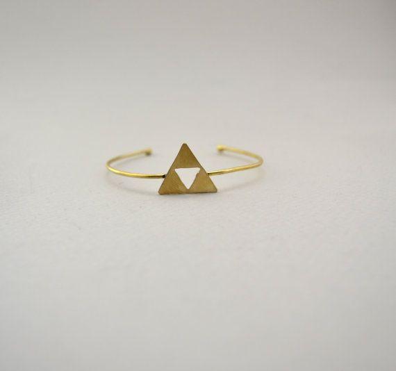 triforce metal bracelet/zelda metal bracelet/minimal by AbyCraft