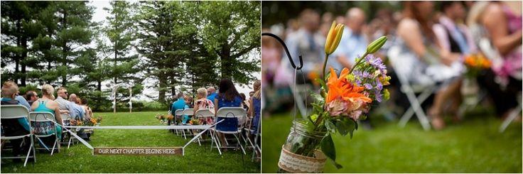 outdoor wedding ceremony WI
