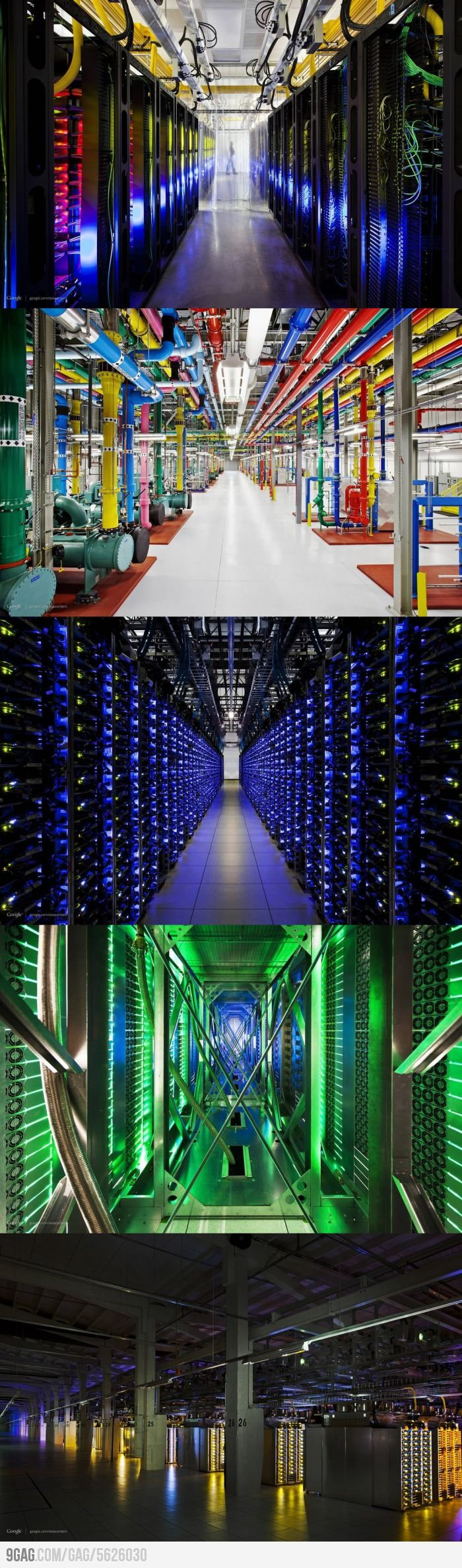 The internet really *is* a series of tubes! - Google's Data Center