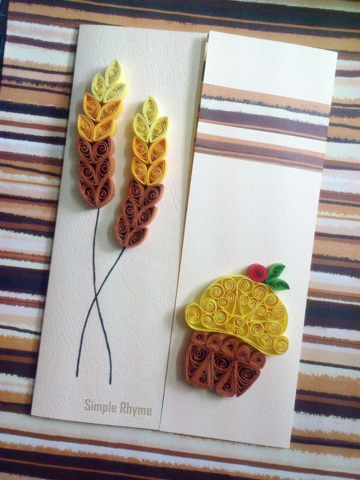 simple rhyme ─archive autumn theme  quilling paper