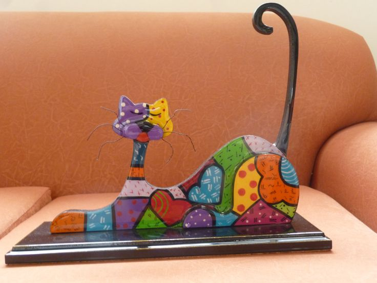 horizontal wooden cat by CraftsElisa on Etsy