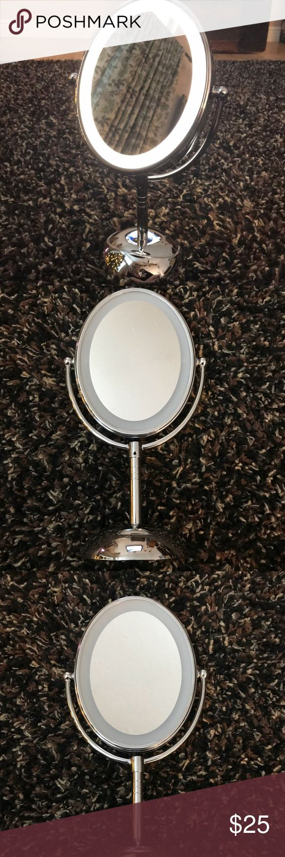 Conair oval lighted makeup mirror Like new! Barely used! Very bright light great for daily use! 25 OBO conair Makeup Brushes & Tools
