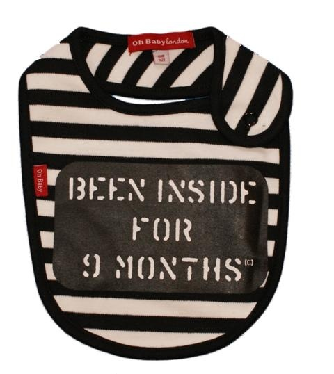 baby jail bib// having a police officer as a husband.. he laughed uncontrolably when he saw this when he saw this.
