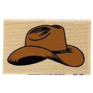 Cowboy Hat Rubber Stamp